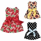 Poodle Dog Dress Princess Pet Puppy Skirt Girl Clothing Small Cats Party Costume