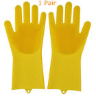 Magic Silicone Gloves with Cleaning Brush Scrubber Silicone Dishwashing Gloves