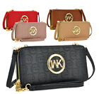 Внешний вид - Monogram MKEmblem Double Zip Around Women's Wallet Crossbody Bag Phone Case