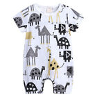 Newborn Baby Boy Cotton Romper Jumpsuit Outfits Short Sleeve Clothes UK 0~18M