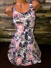 Womens H&M Tropical Floral Jersey Dress White & Multi Polyester New