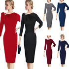 Womens Pleated Asymmetric Bow Neck Slim Wear To Work Cocktail Party Sheath Dress