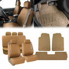 Built-in Seat Belt Auto Seat Covers w/ Beige Floor Mats SUV Van Sedan Truck on eBay