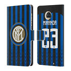 INTER MILAN 2018/19 PLAYERS HOME KIT 2 LEATHER BOOK CASE FOR MOTOROLA PHONES