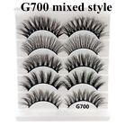 5 Pairs Multipack Mink Hair False Eyelashes Wispy Fluffy Long Natural Eye Lashes