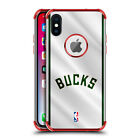 OFFICIAL NBA MILWAUKEE BUCKS RED SHOCKPROOF FENDER CASE FOR HUAWEI LG MOTOROLA