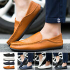 Summer Men Driving Casual Loafers Boat Shoes PU-Leather Slip On Driving Moccasin