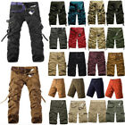 Mens Cargo Pants Shorts Trousers Military Camouflage Combat Army Work Bottoms US