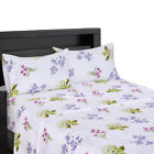 Split King Floral Printed Sheet Sets 100% Cotton 300 Thread Count Flowery Sheets image