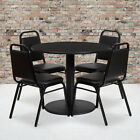 """36"""" Round Laminate Table Set with 4 Trapezoidal Banquet Chairs for sale  Canton"""