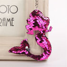 Colorful Sequins Mermaid Tail Keychain Charms Pendants Fish Girls Gifts L