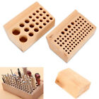 Wood Tool Rack 76/24 Holes Leather DIY Craft Wooden Stamps Stand Holder Storing