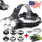 90000LM 5X T6 LED Headlamp Rechargeable Headlight 18650 Flashlight Head Torch ☆