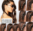5/10pc Silver Gold Hair Ring For Tresses Braids Plaits Dreads Shiny Accessories