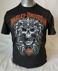 "New Harley Davidson Men's Dealer Tee ""Skulls and Strength"" P/N HHAC image"