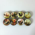 Set of 8 Country Chicken Rooster Kitchen Cabinet Drawer Knobs