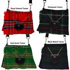 Ladies Shoulder Bags Scottish Kilt Tartan Bag Purse Handmade 4 Tartans New AAR