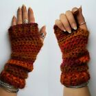 Crochet Wrist Warmers | Boho Fingerless Gloves | Bohemian Hippy Winter Mittens