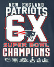 6X Super Bowl 53 Champions 2019 T-Shirt New England Patriots Brady  GOAT NEW image