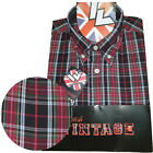 Warrior UK England Button Down Shirt WARDOUR Slim-Fit Skinhead Mod Retro
