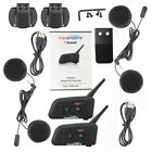 1200m Intercom Motorcycle V6 Bluetooth Helmet Headset 6 Riders Moto Interphone