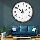 Wall Clock 12 Inch Vintage Round Rustic Silent Quartz Operated Home Decor US