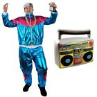 80S SHELL SUIT FANCY DRESS COSTUME CHAV 1980S SHINY TRACKSUIT MENS WOMENS