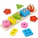 Toys Stacker Block. Geometric Stacking Puzzles game. Match Shape Sort board pre