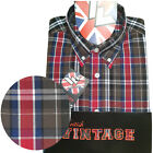 Warrior UK England Button Down Shirt BUSTER Hemd Slim-Fit Skinhead Mod