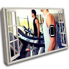 Treadmll Gym Exercise Fitness Mount Wall Frame 3D Art Canvas Mount Room Q951