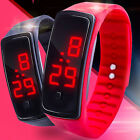 Digital LED Sports Watch Unisex Silicone Band Wrist Watches Men Women tall image