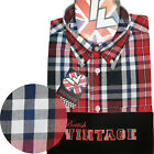 Warrior UK England Button Down Shirt JONES-RWB Hemd Slim-Fit Skinhead Mod