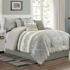 Chezmoi Collection Alberta 7-Piece Medallion Paisley Embroidered Comforter Set image