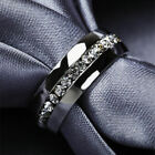 Men/Women's Fashion Jewelry Titanium Steel Engagement Bands Wedding Ring Sz 5-13 image