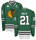 STAN MIKITA CHICAGO BLACKHAWKS GREEN ST PATRICKS DAY REEBOK JERSEY