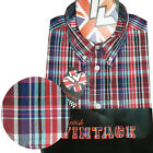 Warrior UK England Button Down Shirt MORWELL Slim-Fit Skinhead Mod Retro