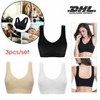 3pcs/set Seamless Sport BH Push Up Racerback Yoga Fitness Bustier Top Bra