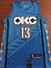 Brand NEW Oklahoma City Thunder 13 Paul George Basketball Jersey Blue