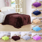 Super Soft Warm Solid Warm Micro Plush Fleece Blanket Throw Rug Sofa Bedding New image