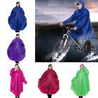 Men Women Ladies Outdoor Bike Cycling Raincoat Rain Cape Sleeved Poncho Thick#