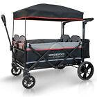 XXL 4-Passenger Pull/Push Quad Stroller Wagon with Canopy, 5-Point Safety Seats