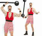 Mens Circus Strong Man Costume Muscle Wrestler Boxer Fancy Dress Outfit