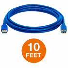 USB 3.0 Extension Extender Cable Cord M/F Type A Male to Female Blue Lot