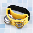 Foot tambourine percussion musical instrument with metal jingle bells SU