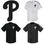 Philadelphia Phillies Striped Button Jersey Baseball Open T-Shirts Uniform 0112 on Ebay