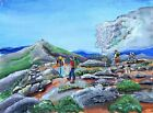 NH White Mountain Hiking Art Print Old Man NH AMC Appalachian Club Mt Hiker gift