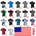 Men's Cycling Clothing Bicycle Jersey Sportswear Short Sleeve Bike Tops T- Shirts