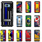 For Samsung Galaxy S8 PLUS Tri Shield Hybrid Case USA Flag Contry Pride Flags