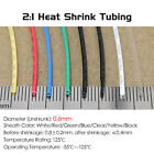 Dia 0.6mm Heat Shrink 2:1 Tubing Electrical Sleeving Cable Wire - Various Colors