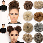 Remy Thick 100% Real Messy Large Bun Hair Feel as Human Large Natural Wrap Updo